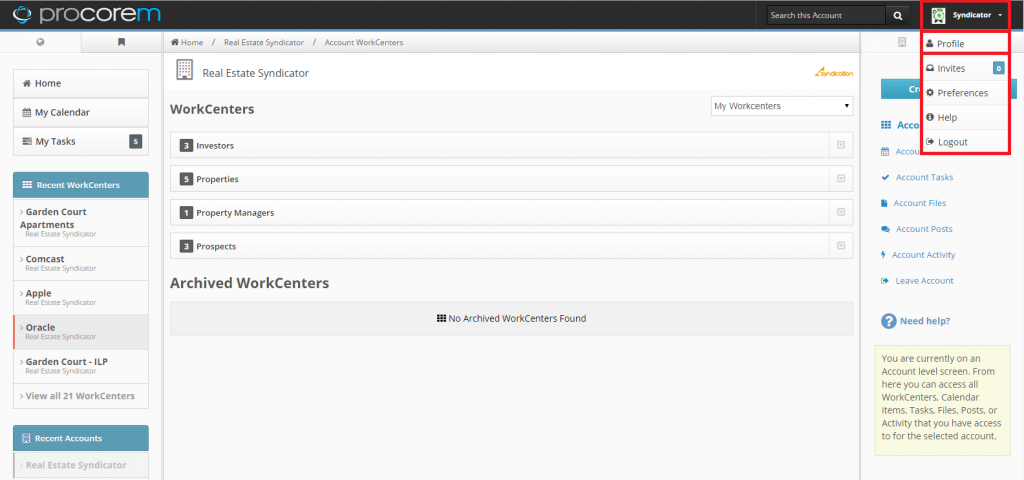 Account Page - Screenshot 1